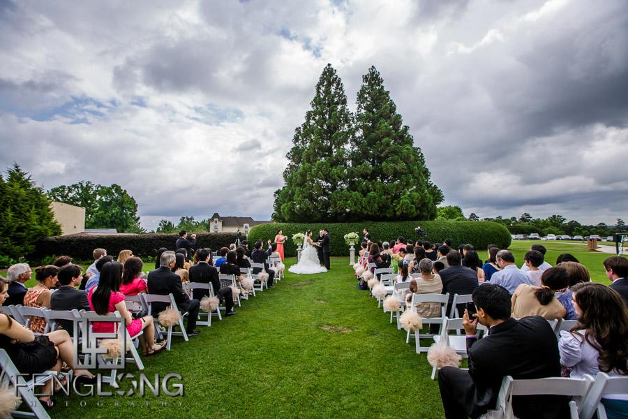 Outdoor Chinese wedding at Chateau Elan