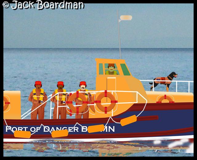 Randolph Kidd & crew in Rescue Boat 09