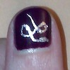 Closeup of Silver Snake on Thumb 2