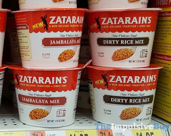 Zatarain's Jambalaya Mix and Dirty Rice Mix Cups