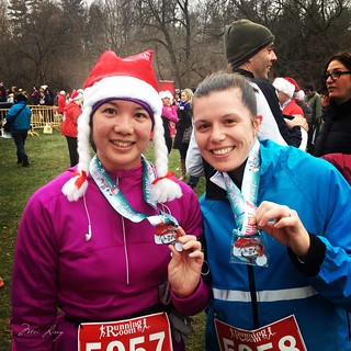 Jen and I with our medals