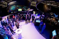 Ambassadors meet ESA astronauts at the 'Space for Earth' pavilion at ILA