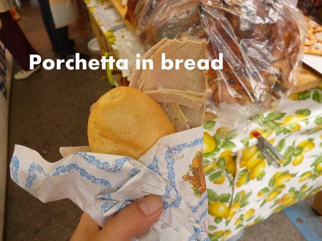 Porchetta at Florence's Tuesday Market