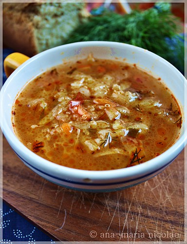 Quinoa & cabbage soup