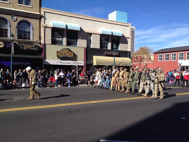 Military Reenactors In the Veteran's Day Parade