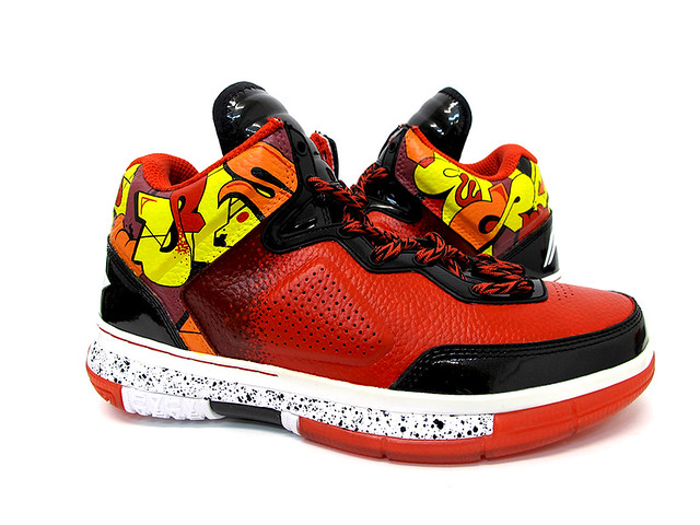 LiNing Way of Wade Miami Heat Graffiti custom