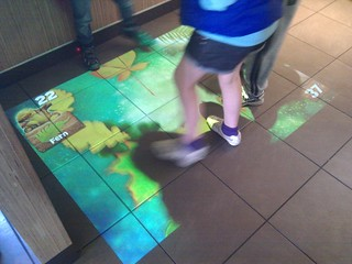 mcdonalds ceiling mounted floor video game