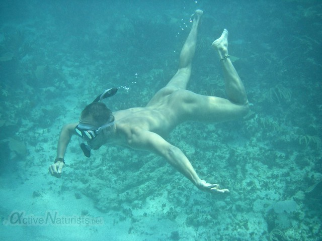 naturist snorkel 0000 Sian Kaan beach, Quintana Roo, Mexico