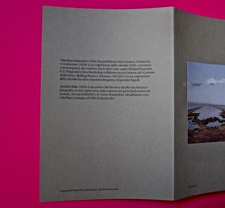 Vincenzo Latromico, Armin Linke, Narciso nelle colonie. Quodlibet Humboldt 2013. Progetto grafico di Pupilla Graphic. Risvolto della quarta di copertina e q. di cop. (part.)