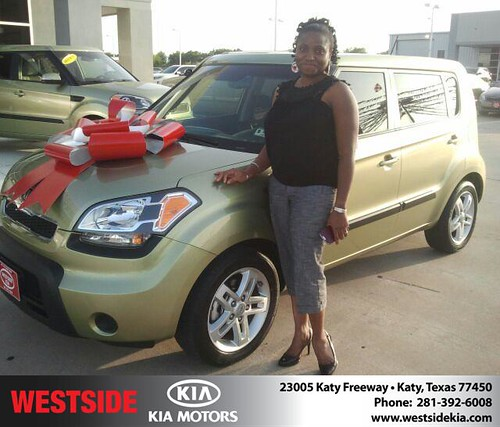 Thank you to Onyinyechi Odunze on the 2011 Kia Soul from Gil Guzman and everyone at Westside Kia! by Westside KIA