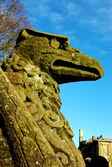 IMGP2143_Coombe Country Park - Gryphon stone carving_By Craig