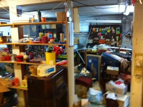 Cram-packed garage