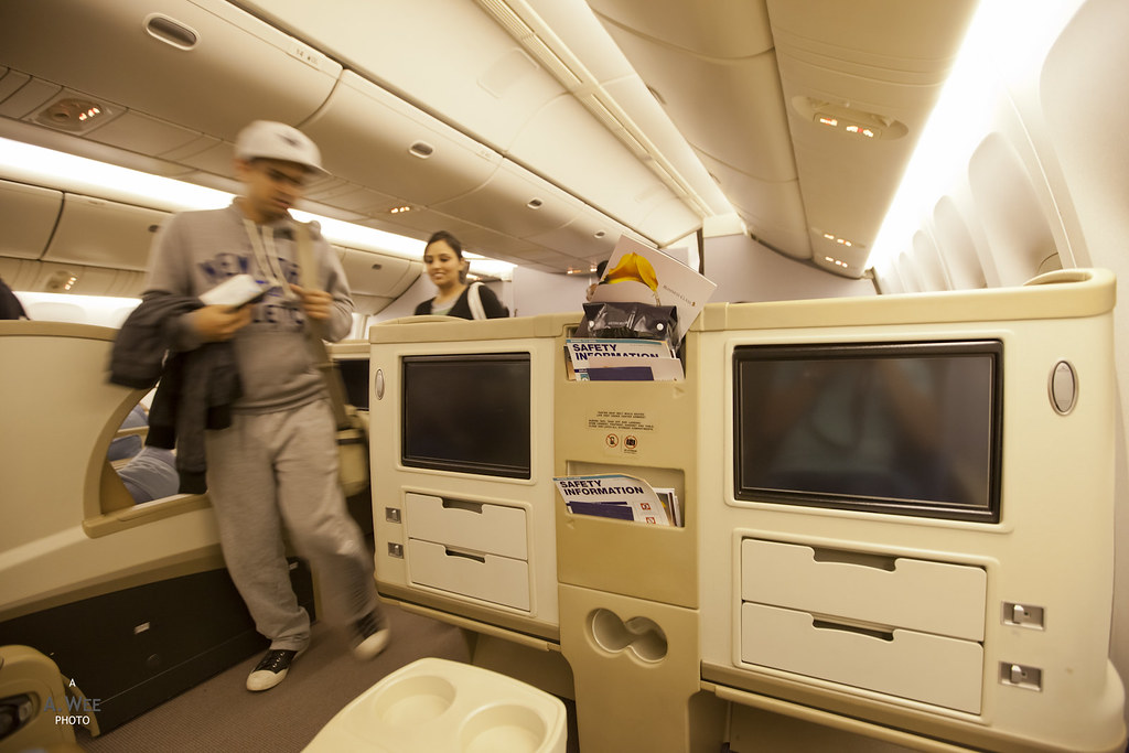 Business Class on SQ 777-300