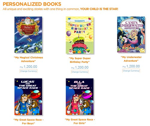 other personalized books available and price