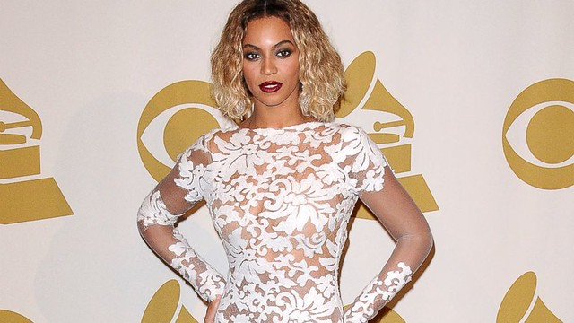 beyonce michael costello white lace dress