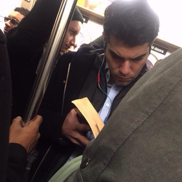Hot dudes reading in trains