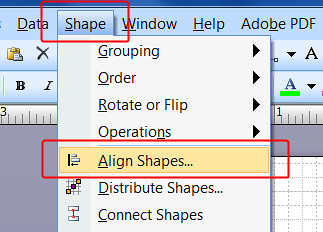 How to Quickly Align Shapes in Your Drawing (Visio 2007