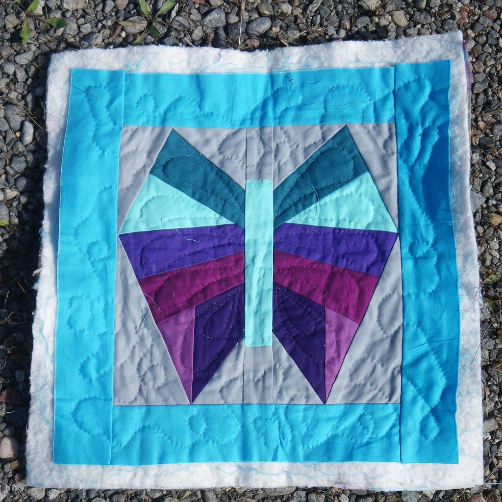 Modern Butterfly - hand quilting