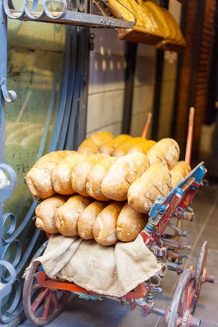 Bread cart, Kadikoy Market.