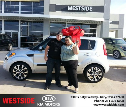 Thank you to Vanessa Solis on the 2013 Kia Soul from Wilfredo Suliveras and everyone at Westside Kia! by Westside KIA