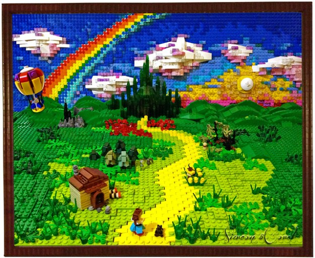 Follow the Lego Brick Road