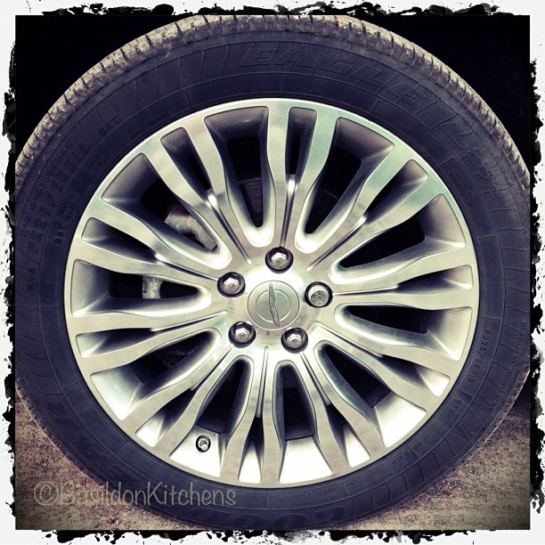 May 8 - shape {circle - the shape of my car wheel & tire} #fmsphotoaday #shape #circle #wheel #tire