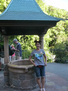 with Snow White's wishing well
