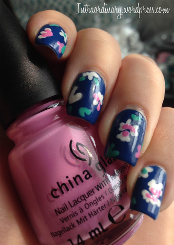 Floral Print Nails by intraordinary