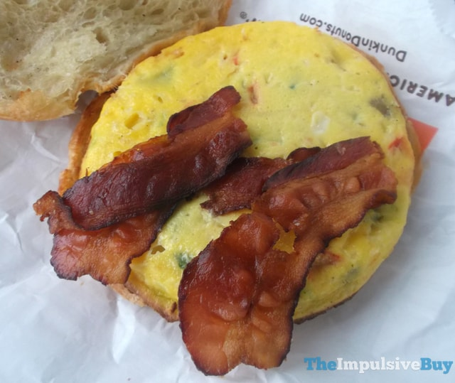 Dunkin' Donuts Bacon Supreme Omelet Breakfast Sandwich 3