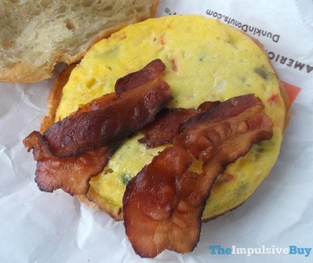 Dunkin' Donuts Bacon Supreme Omelet Breakfast Sandwich 3