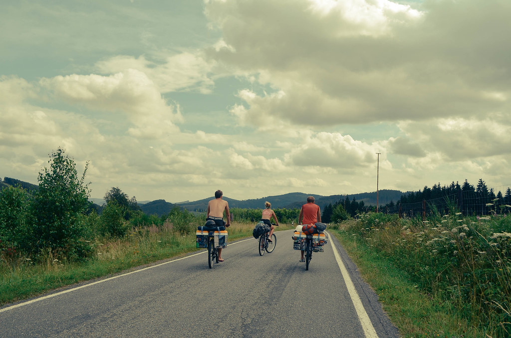 6 cycling into the distance
