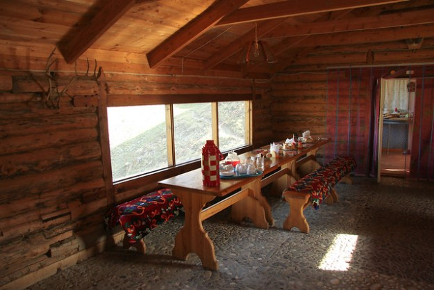 Dining room at At-Jailoo. South Inylchek Glacier Trek