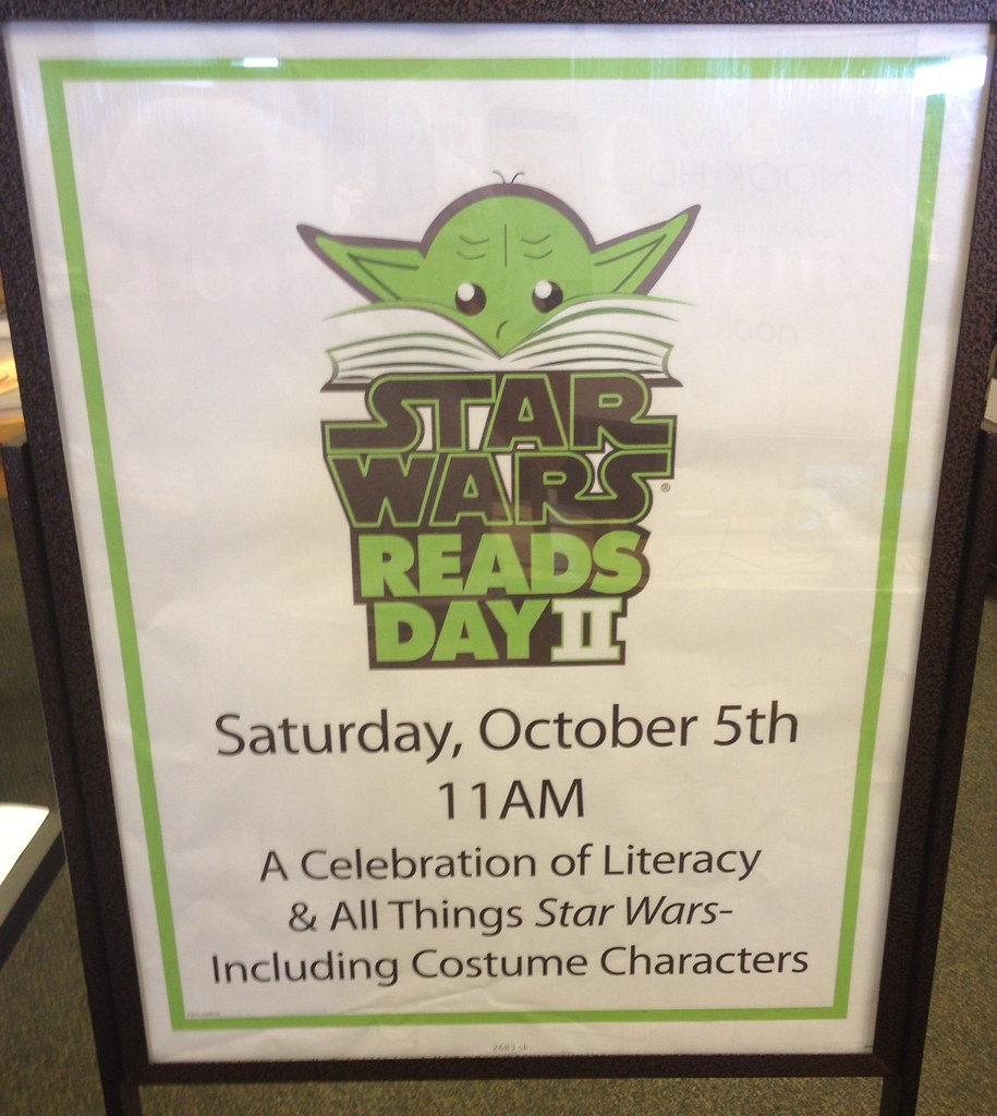Star Wars Reads Day sign
