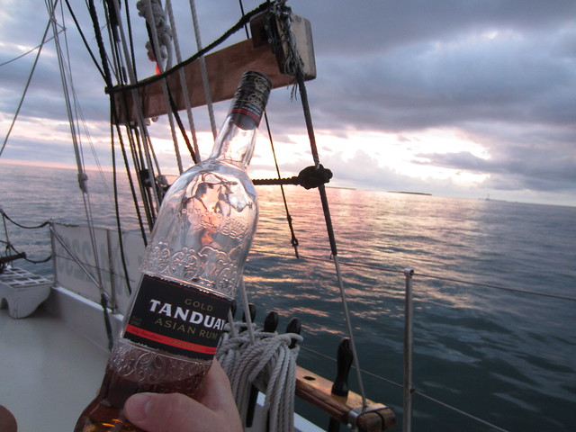 Filipino rum goes well with sailing.
