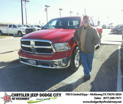 Thank you to Michael Mcginnis on your new 2013 #Ram #1500 from Brent Villarreal and everyone at Dodge City of McKinney! #NewCarSmell by Dodge City McKinney Texas