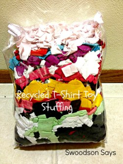 Recycled Tshirt Toy Stuffing - Swoodson Says