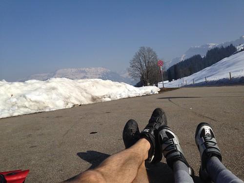 Viel zu warm zum Skifahren by habi