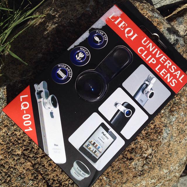 Cloth-Clip Wide (+Macro) + Fisheye Lenses for Camera Phones