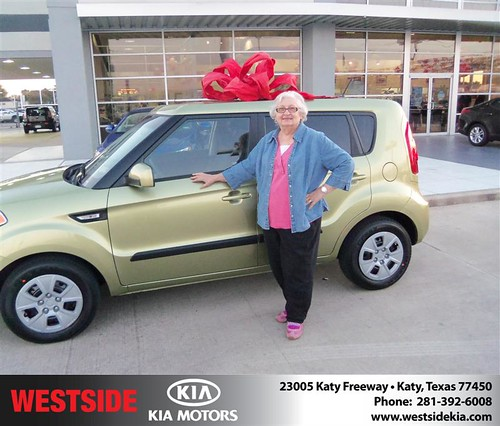 Happy Anniversary to Janice Weller on your 2013 #Kia #Soul from Clayton Damon and everyone at Westside Kia! #Anniversary by Westside KIA