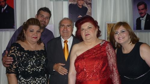 Raul e Laura Loureiro com os netos Patrick, Arthur, Lorena, Anne e Lucas Loureiro