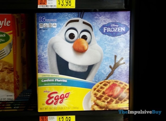 Kellogg's Limited Edition Disney Frozen Confetti Flurries Eggo Waffles
