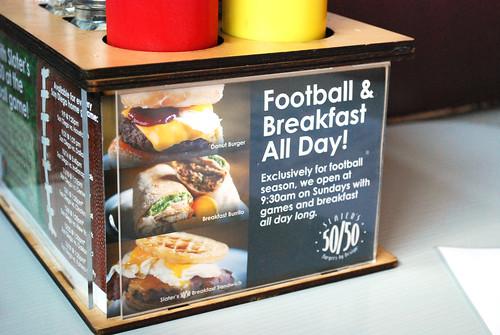 Slater's breakfast promo