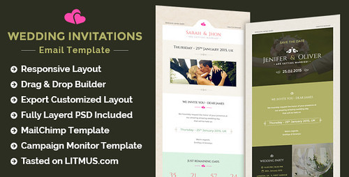 Wedding Invitation Newsletter + Builder Access (Email Templates)