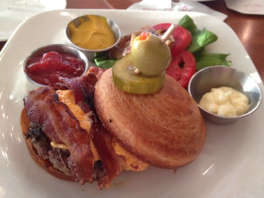 Pimento Cheese Bacon Burger at The Grill, The Club, Birmingham AL