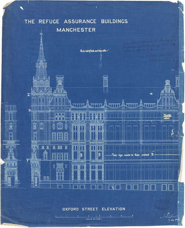 Blueprints of a city manchesters architectural plans malvernweather Choice Image