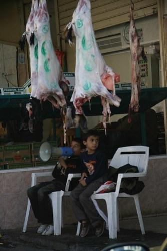 Boys in market, Aqaba, Jordan