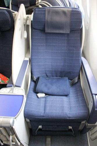 787のプレミアムクラス最初の国内線仕様