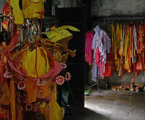 Costumes at Tu Duc Tomb in Hue, Vietnam
