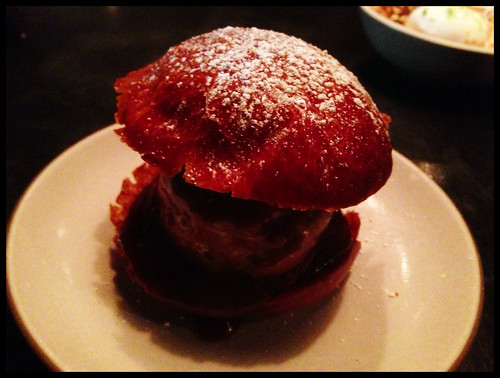 Italian Hamburger: Gianduja, Brioche, Caramel, Maldon