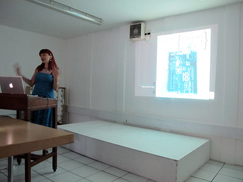 Camille Baker presenting on 'Hacking the Body'